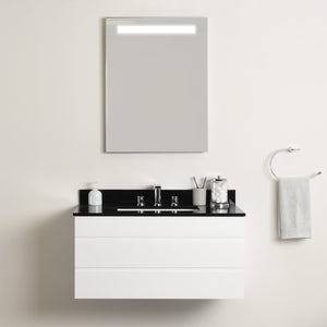 Shop here maykke dani 36 bathroom vanity cabinet in birch wood white finish modern and minimalist single wall mounted floating base cabinet only ysa1203601