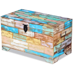 Amazon fesnight reclaimed wood storage chest lockable wooden storage box trunk cabinet with handles for bedroom closet home organizer collection furniture decor 28 7 x 15 4 x 16 1l x w x h