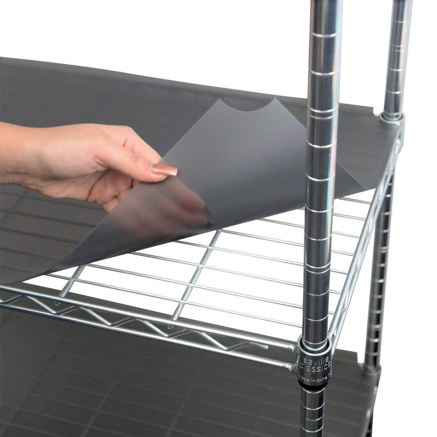 Get houseables wire shelf liner plastic non adhesive 14x30 5 pk clear gray utility rack protector mats for drawers kitchen cabinet tier shelving unit cupboard heavy duty nonslip waterproof
