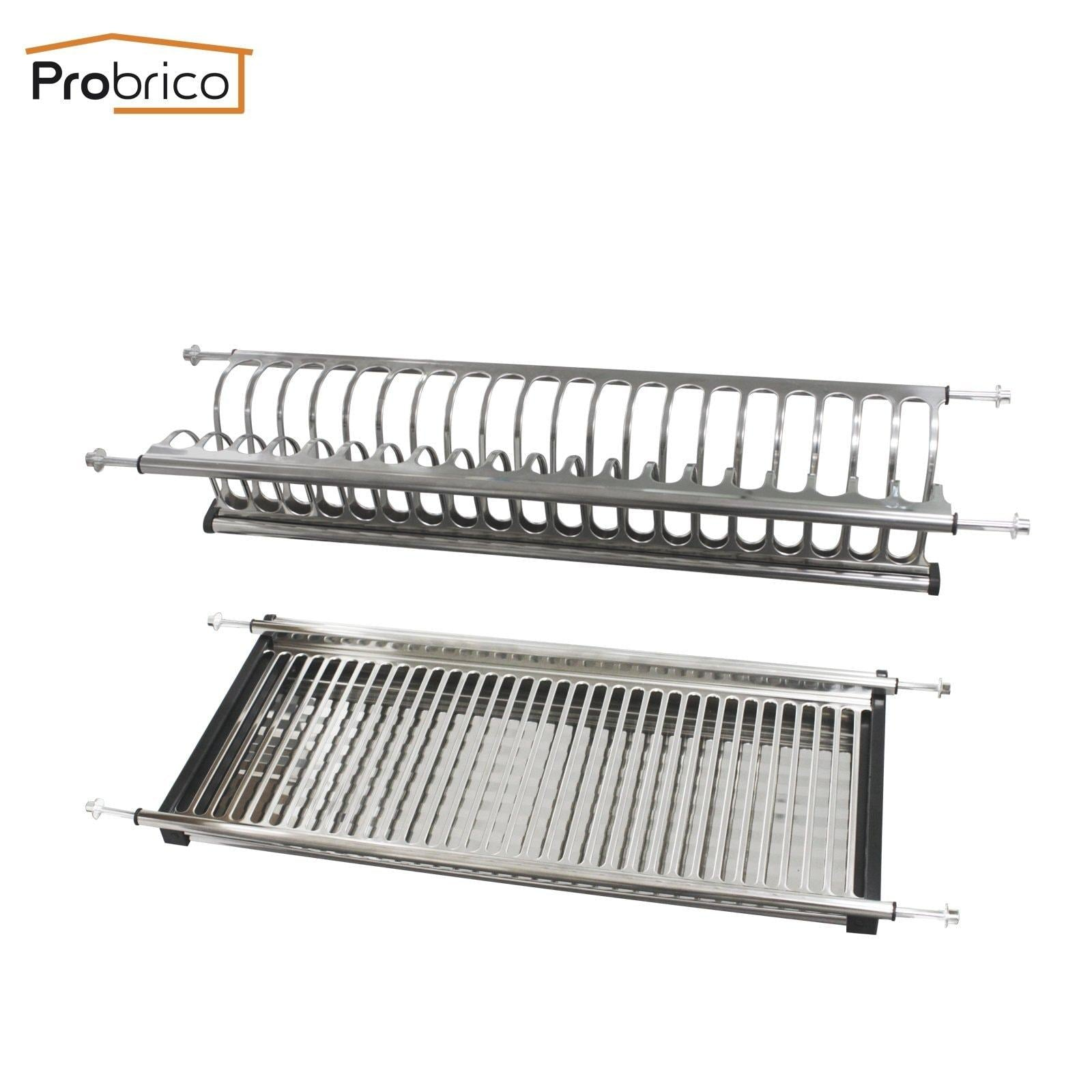 Latest probrico stainless steel dish drying rack for the cabinet 900mm