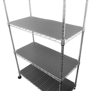 Great houseables wire shelf liner plastic non adhesive 14x30 5 pk clear gray utility rack protector mats for drawers kitchen cabinet tier shelving unit cupboard heavy duty nonslip waterproof
