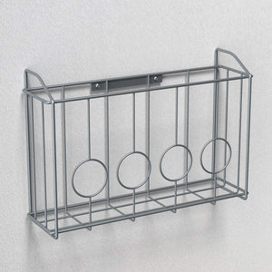 Explore nex over the cabinet door organizer cabinet storage basket for cutting board aluminum foil cleaning supplies silver
