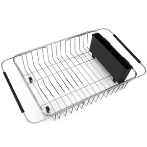 iPEGTOP Sink Sponge Holder, Stainless Steel In Sink Caddy Organizer Utensil Holder Organizer Brush Soap Dish washing Liquid Drainer Rack, Rustproof Stainless Steel for Kitchen