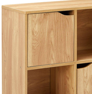 Selection home basics cube shelves natural wood shelf with doors room clothes storage home decor bookshelf toy organizer home office 4 open 5 cabinet style 9 c