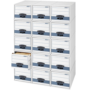 Shop for bankers box stor drawer steel plus extra space saving filing cabinet stacks up to 5 high legal 6 pack 00312