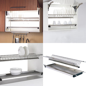 New probrico stainless steel dish drying rack for the cabinet 900mm