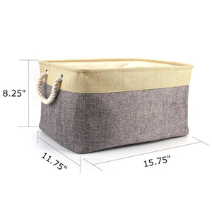 Best seller  tosnail 2 pack linen storage baskets with drawstring cover top fabric storage bin organizer for home closet shelves cabinet storage