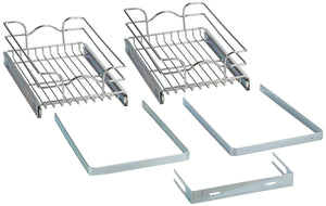 Storage rev a shelf 5wb2 1218 cr 12 in w x 18 in d base cabinet pull out chrome 2 tier wire basket