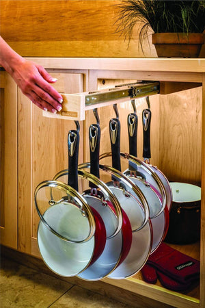 Select nice glideware pull out cabinet organizer for pots and pans