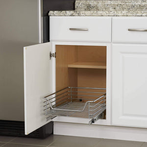 Featured household essentials c1521 1 glidez extra deep under sink sliding organizer pull out cabinet shelf chrome 14 5 inches wide