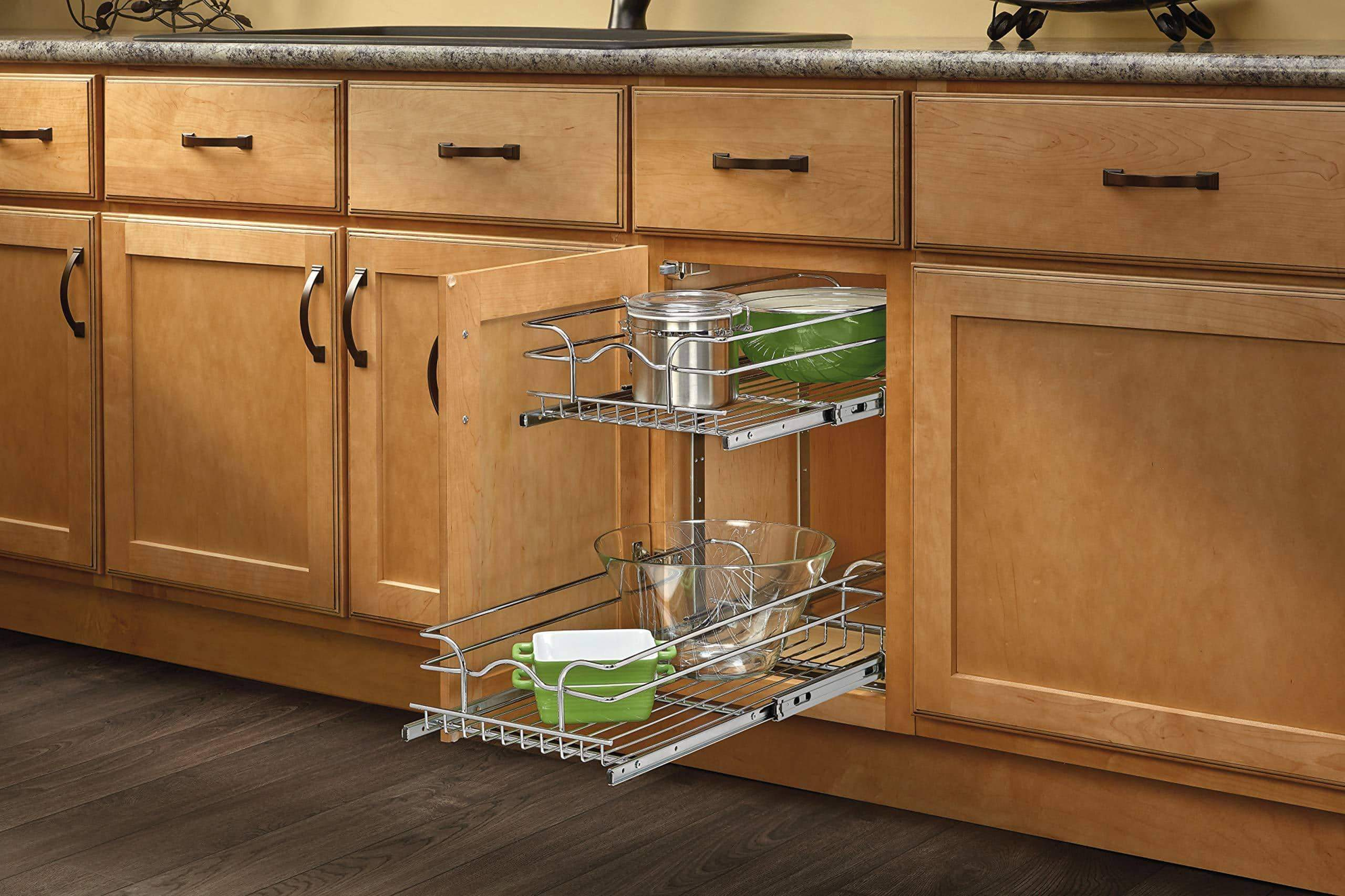 Select nice rev a shelf 5wb2 1218 cr 12 in w x 18 in d base cabinet pull out chrome 2 tier wire basket