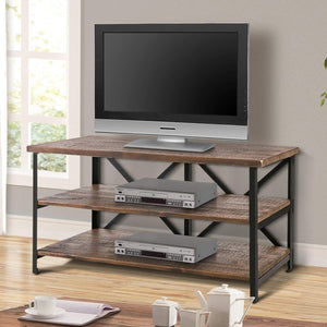Results harper bright designs wood tv stand cabinet entertainment media console center home furniture multipurpose storage organizer finish television stand brown tv stand