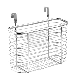 Selection ybm home ybmhome over the cabinet door kitchen storage organizer holder basket pantry caddy wrap rack for sandwich bags cleaning supplies chrome 2234 1 medium