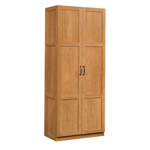 Discover the sauder 419188 storage cabinet l 29 61 x w 16 10 x h 71 10 highland oak finish
