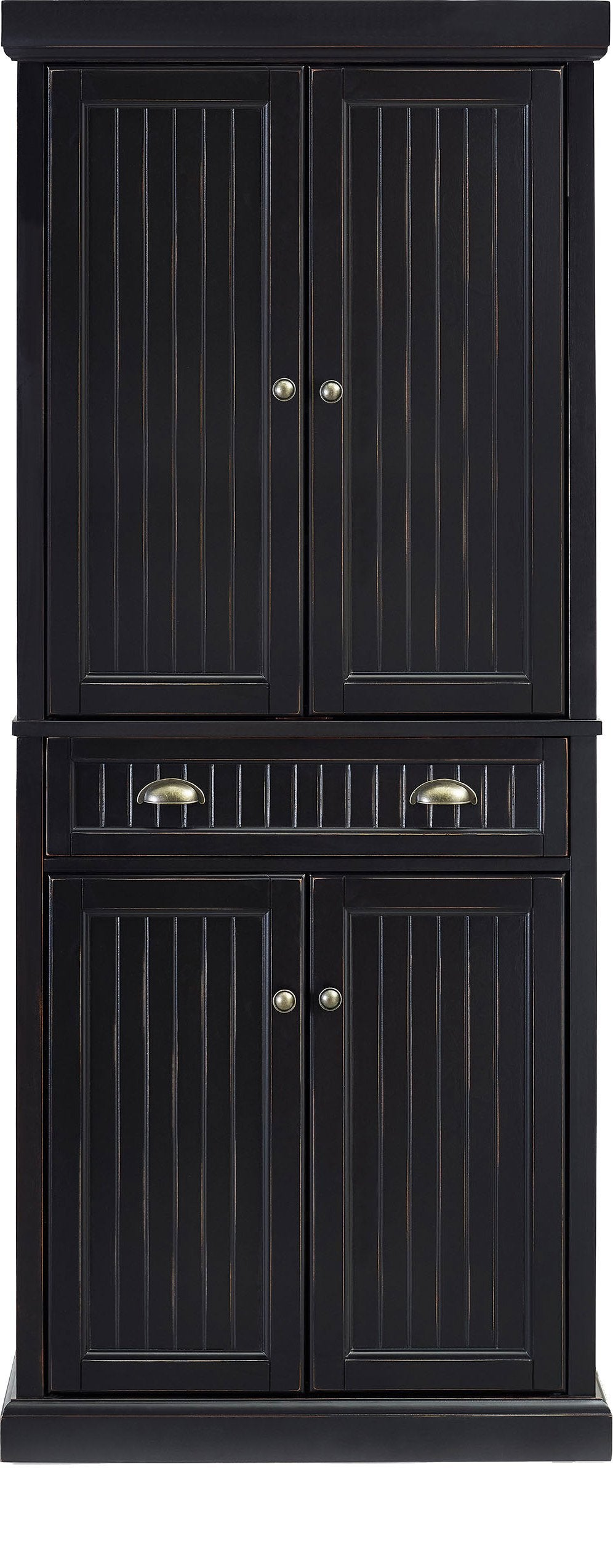 The best crosley furniture seaside kitchen pantry cabinet distressed black