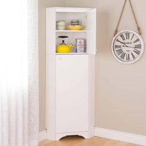 Amazon prepac wscc 0605 1 elite home corner storage cabinet tall 2 door white
