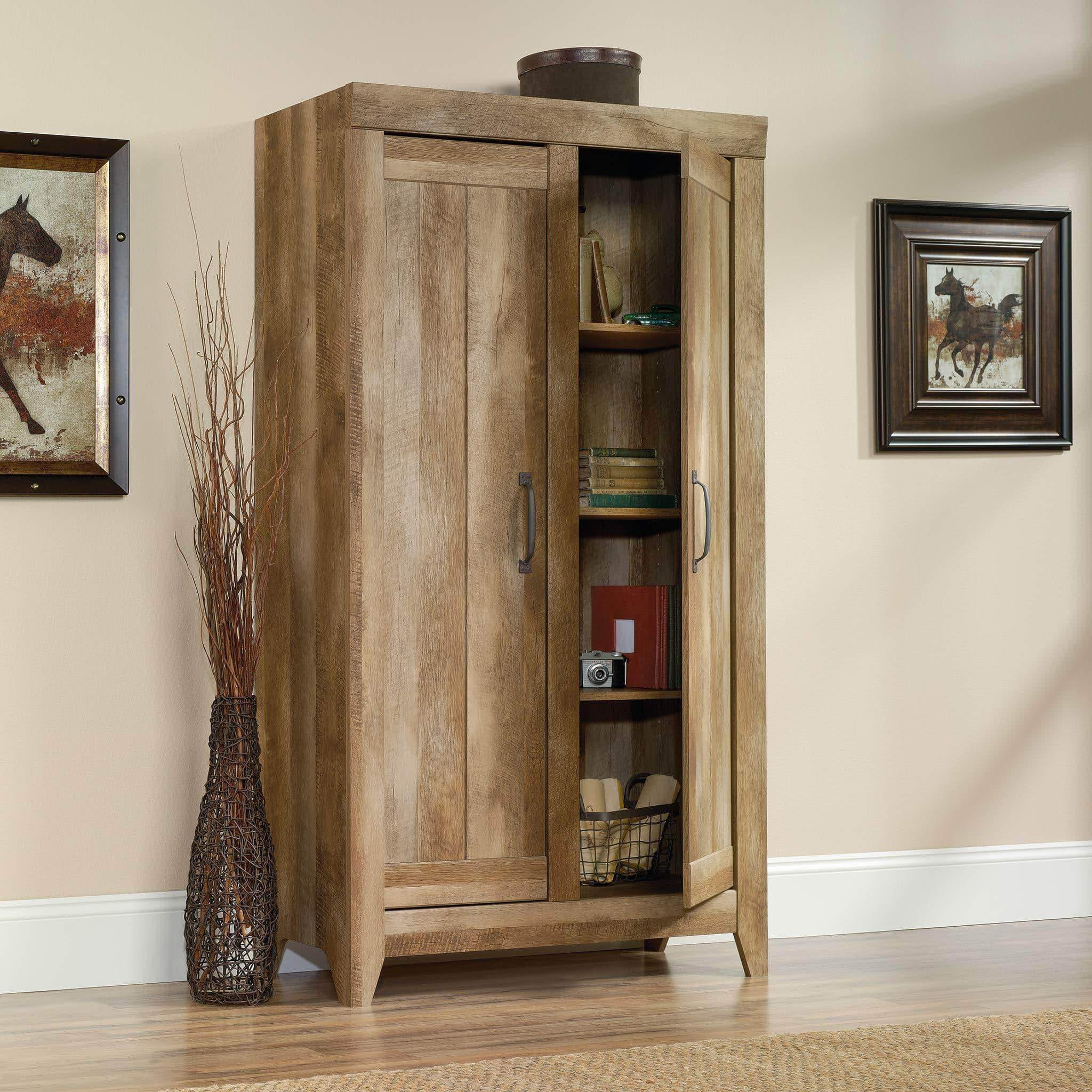 Discover the best sauder 418141 adept storage wide storage cabinet l 38 94 x w 16 77 x h 70 98 craftsman oak finish