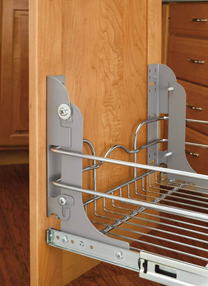 Selection rev a shelf 5wb2 1218 cr 12 in w x 18 in d base cabinet pull out chrome 2 tier wire basket