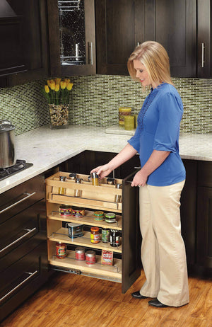Shop here rev a shelf 448 bc 8c base cabinet pullout organizer with wood adjustable shelves sink base accessories 8 inch