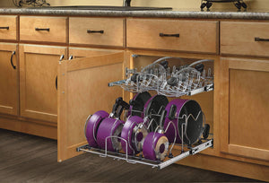 Buy rev a shelf 5cw2 2122 cr 21 in pull out 2 tier base cabinet cookware organizer