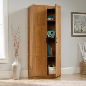 Get sauder 419188 storage cabinet l 29 61 x w 16 10 x h 71 10 highland oak finish
