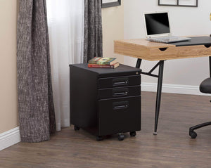 Home craft hobby essentials 62002 metal 3 vertical mobile filing cabinet 15 75 w x 22 d craft supply storage with locking drawers in black