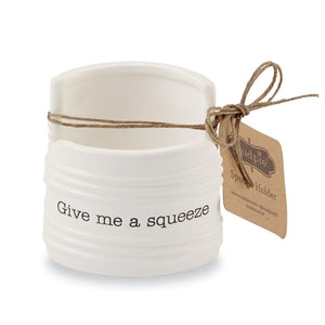 "Mud Pie Home Circa Collection ""Give Me a Squeeze"" Kitchen Sink Sponge Holder"