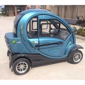 Green Transporter Q Pod 4 Wheel Electric Mobility Scooter - JustMobilityScooters.com