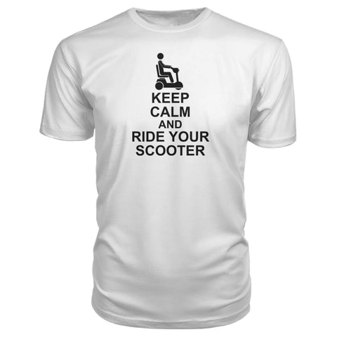 Keep Calm & Ride Your Scooter Premium Tee - JustMobilityScooters.com