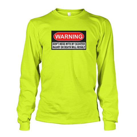 Warning Long Sleeve - JustMobilityScooters.com