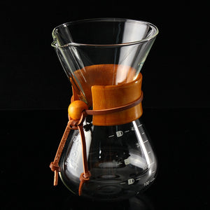 Pour-Over Brew Glass Coffee Pot