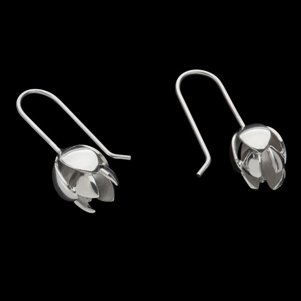 Ritona silver flowers earrings