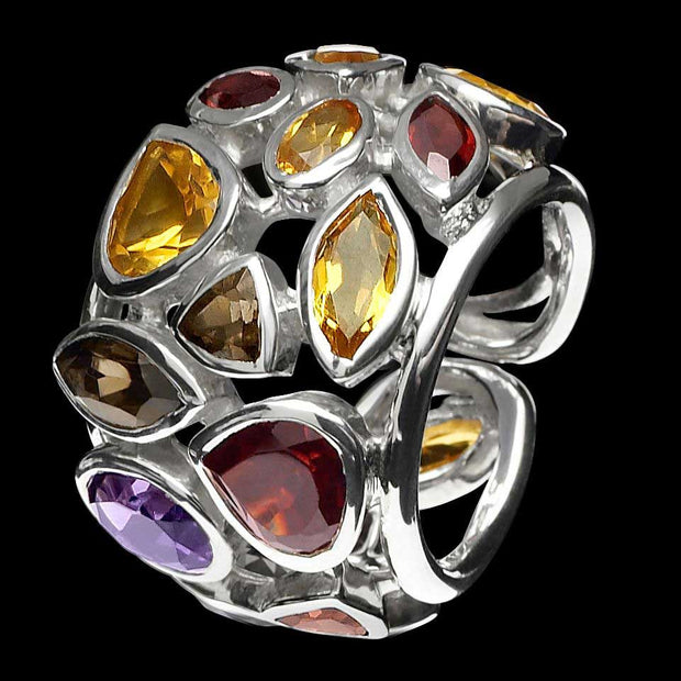 Borealis gemstone ring in Fire
