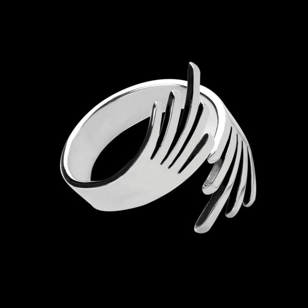 Hydra Silver Thumb Ring