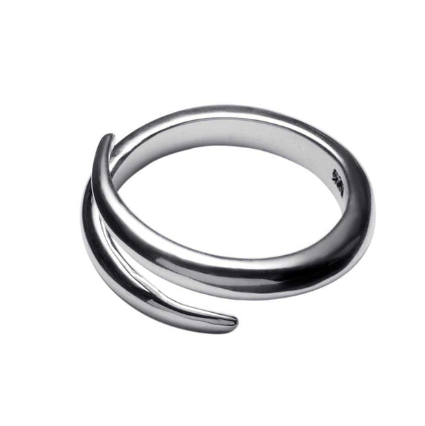 Larissa silver twist ring