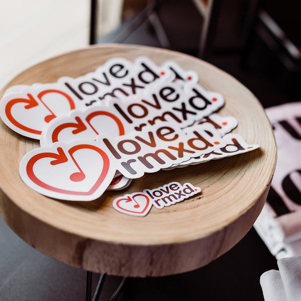 Love Rmxd Logo Sticker