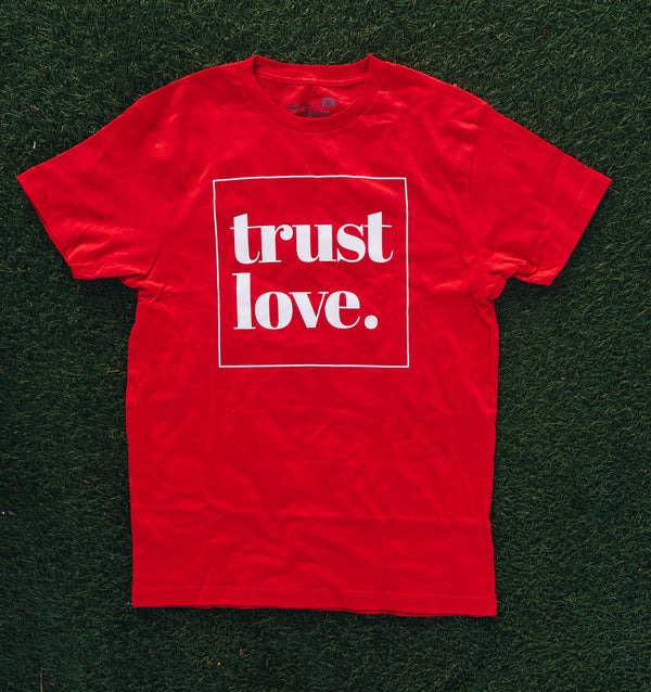 Trust Love Tee - Red