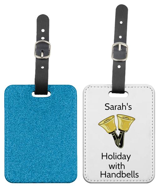 Your Name - Holiday with Handbells - Luggage Tag