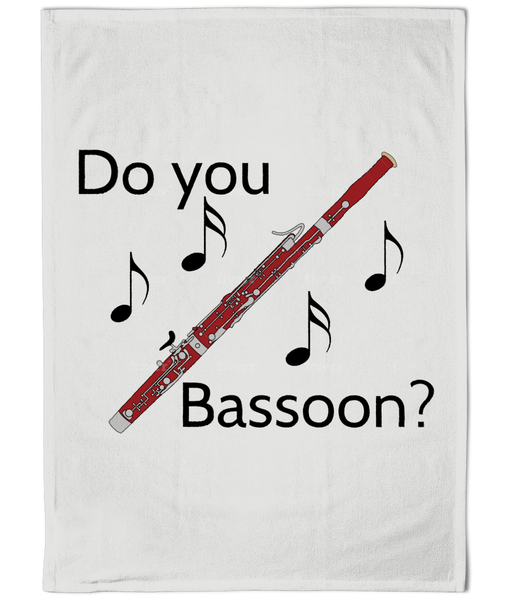 """Do you Bassoon?"" - Tea Towel"