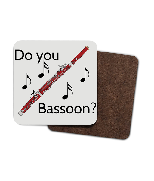 """Do You Bassoon?"" Hardboard Coaster - 4 Pack"