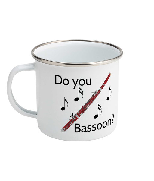 """Do You Bassoon?"" - Enamel Mug"