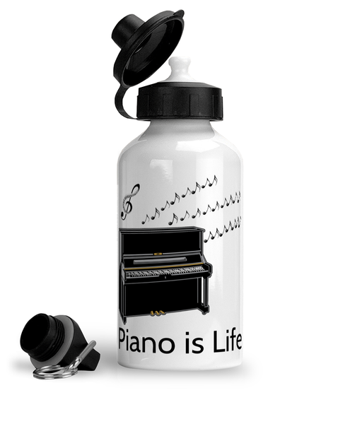 Piano is Life - Aluminium Sports Hot/Cold Drinks Bottle