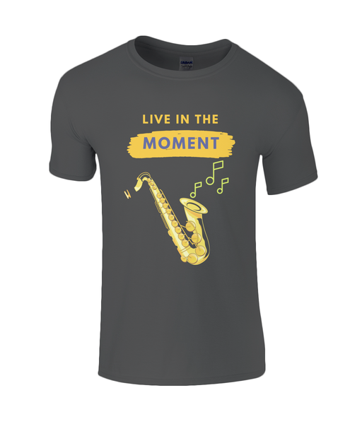 Live in the Moment - Mens Sax T-Shirt