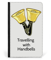 Travelling with Handbells - Faux Leather Passport Cover