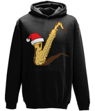 Sax in a Hat - Unisex Sax Christmas Hoodie