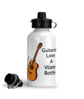 Guitarists Love A Water Bottle - Aluminium Sports Hot/Cold Drinks Bottle