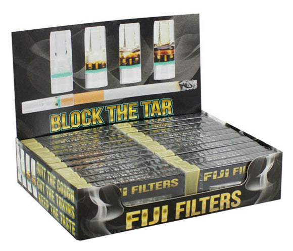 Display of 160 Fiji Cigarette Filter Tips QUALITY BPA Free 90% Less Tar