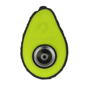 "4.75"" Silicone Avocado Pipe with Glass Insert"