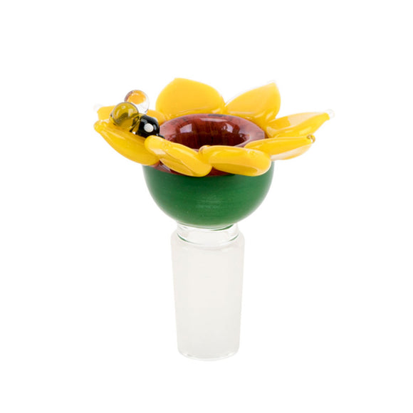 Sunflower with Bumble Bee Design - 14mm Bowl Made in USA