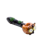 "4"" Hootie the Owl Glass Hand Pipe"